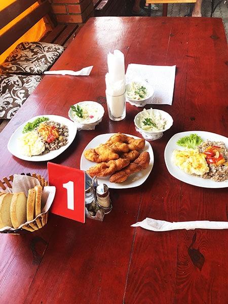 Питание на базе отдыха Березка в Приморске